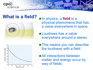 What is a field?