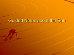 Guided Notes about the Sun