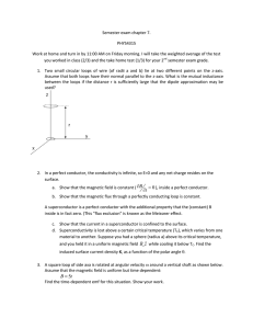 Semester exam chapter 7. PHYS4315