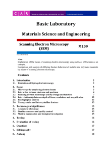 Basic Laboratory  Materials Science and Engineering Scanning Electron Microscopy