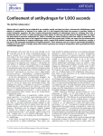 Confinement of antihydrogen for 1,000 seconds ARTICLES