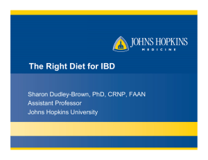 The Right Diet for IBD