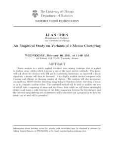 An Empirical Study on Variants of k-Means Clustering