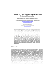 CASME: A CASE Tool for Spatial Data Marts Design and Generation