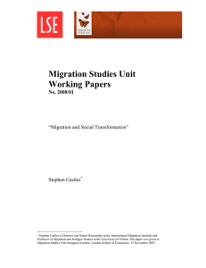 Migration and Social Transformation