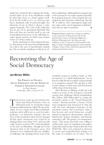 -Recovering the Age of Social Democracy