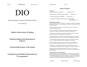DIO 15 - DIO, The International Journal of Scientific History