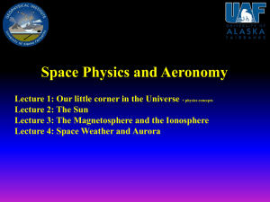 Week one: Space Physics and Aeronomy (pdf, 1.3 MB)