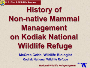 History of Non-Native Mammal Management on Kodiak National Wildlife Refuge
