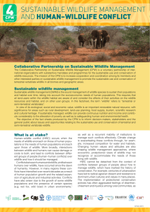 Sustainable Wildlife Management and Human-Wildlife Conflict