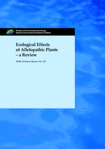Ecological Effects of Allelopathic Plants – a Review