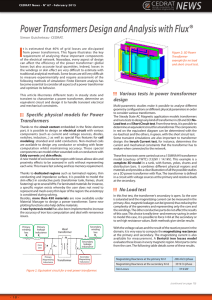 2015 Power transformers design and analysis with Flux SG CN67