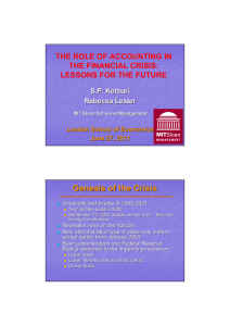 The Role of Accounting in the Financial Crisis: Lessons for the Future.