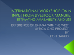 Experience of Ghana with the West Africa GHG project