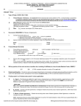 Supplemental Information Form for Commercial Agreements