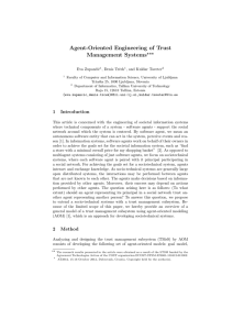 Agent-oriented Engineering of Trust Management Systems