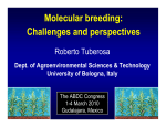 Molecular breeding: Challenges and perspectives