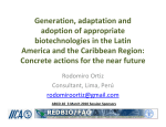 Generation, adaptation and adoption of appropriate biotechnologies in the Latin America and the Caribbean Region: Concrete actions for the near future