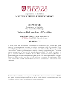 Value-at-Risk Analysis of Portfolios