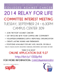 Committee Interest Meeting Flyer (PDF)