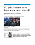 """UC grad students drive innovation, merit state aid"" (pdf)"