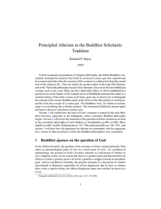 Principled Atheism in the Buddhist Scholastic Traditionpdftex