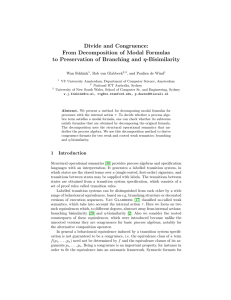 Divide and congruence: From decomposition of modal formulas to preservation of branching and eta-bisimilarity