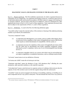 Conference of Radiation Control Program Directors (CRCPD) Suggested State Regulations, Part F.11 (PDF)