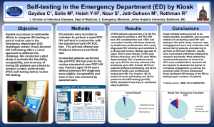 Gaydos_SelfTesting in the ED by Kiosk_poster