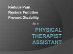 Physical Therapy Assistant Information Presentation 2016