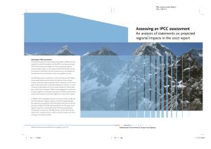 Assessing an IPCC Assessment: An Analysis of Statements on Projected Regional Impacts in the 2007 Report