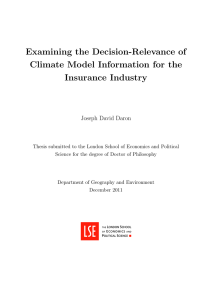 Examining the decision-relevance of climate model information for the insurance industry