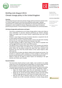 Climate change policy UK briefing note (opens in new window)