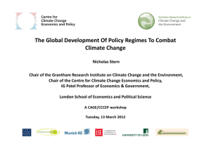 The global development of policy regimes to combat climate change