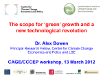 The scope for green growth and a new technological revolution