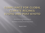 Compliance mechanisms in global climate regimes: Kyoto and post-Kyoto