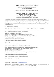 Climate Finance in Africa: from Aid to Trade: event program
