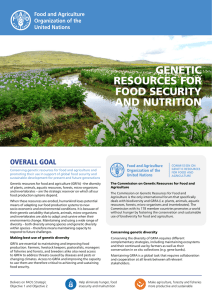 Genetic Resources For Food Security and Nutrition
