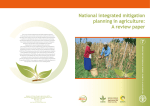 National Integrated Mitigation Planning in Agriculture: A review paper