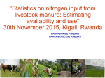 Statistics on nitrogen input from livestock manure: Estimating availability and use