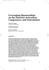 Leveraging Sponsorships on the Internet