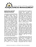 Another view of long-range marketing strategies for agribusiness industry
