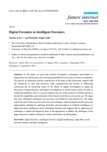 Digital Forensics to Intelligent Forensics