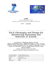 Strategies and Design for Interleaving Reasoning and Selection of Axioms