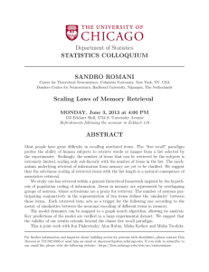 Scaling Laws of Memory Retrieval