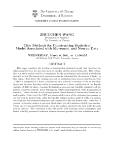 Title Methods for Constructing Statistical Model Associated with Movement and Neuron Data