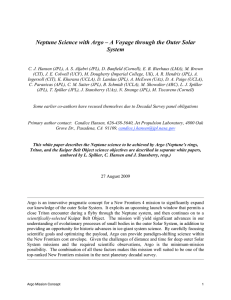 Neptune Science with Argo – A Voyage through the Outer Solar