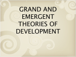 Grand and Emergent Theories