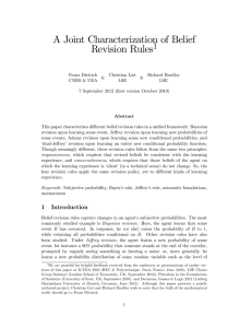 A Joint Characterization of Belief Revision Rules