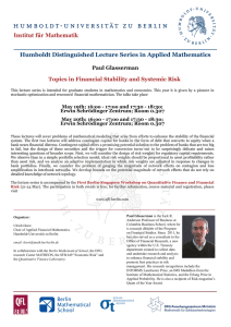 presents at the Humboldt Distinguished Lecture Series in Applied Mathematics